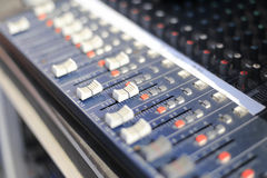 The equalizer. Professional audio equalizer with keys and scales Stock Photos