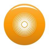 Equalizer radio icon vector orange. Equalizer radio icon. Simple illustration of equalizer radio vector icon for any design orange vector illustration