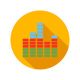 Equalizer scale flat icon Stock Photos