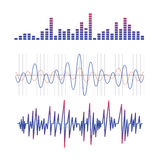 Equalizer. scheme of radio waves. On the image  is presented equalizer. scheme of radio waves Stock Photography