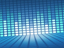 Equalizer signals in blue Stock Images