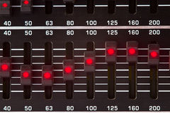 Equalizer sliders Royalty Free Stock Photos