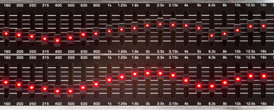 Equalizer sliders Royalty Free Stock Photo