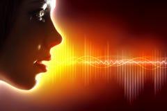 Sound wave illustration. Equalizer sound wave background theme. Colour illustration Stock Photography