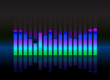 Equalizer sound wave illustration Stock Photos