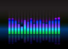 Equalizer sound wave illustration Stock Photos
