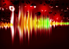 Equalizer sound waves Royalty Free Stock Photos