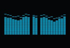 Equalizer spectrum 1 Royalty Free Stock Photo