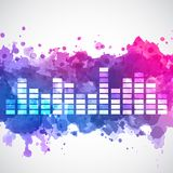 Equalizer with a watercolor background Royalty Free Stock Images