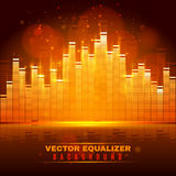 Equalizer wave light background poster Stock Images