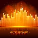 Equalizer wave light background poster Stock Images