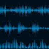 equalizer waveform Arkivbild