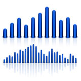 Equalizer  on White Background Royalty Free Stock Photography