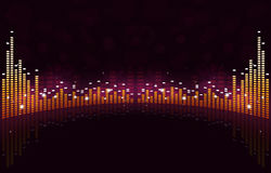 Equalizer Wide Music Background Royalty Free Stock Images