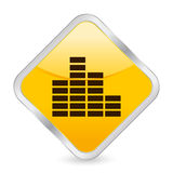 Equalizer yellow square icon Royalty Free Stock Photo