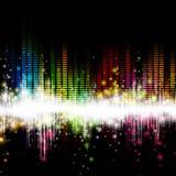 Equalizzatore di musica Immagini Stock