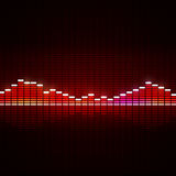 Equalizzatore di musica Fotografia Stock