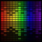 Equalizzatore di musica dell'arcobaleno Immagine Stock