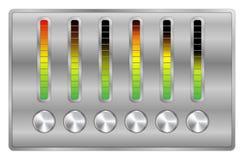 Equalizzatore di musica di vettore Fotografie Stock