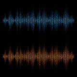 Equalizzatore di vettore, onde sonore Equalizzatore di Digital di musica illustrazione vettoriale