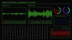 Equalizzatore 4K dell'interfaccia dell'annotazione del suono di Wiretapper royalty illustrazione gratis