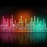 Equalizzatore multicolore di musica Fotografie Stock