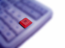 Equals. A blurred calculator with the equals sign standing out Stock Photography