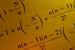 Equation. Complex mathematical equation, confusing math problem royalty free stock photography