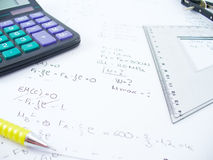 Equation. Business work table Royalty Free Stock Photos
