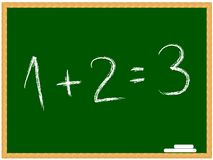 Equation on chalkboard Stock Image