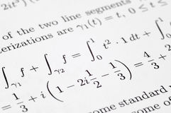 Equation Exercises Royalty Free Stock Photography