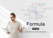 Equation Formula Geometry Calculation Concept.  royalty free stock photos