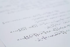 Equation Royalty Free Stock Photo