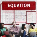Equation Mathematics Calculation Chart Concept Stock Images