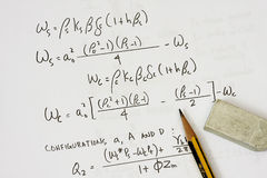Equations from asme code Royalty Free Stock Image