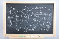 Equations and formulas Royalty Free Stock Image