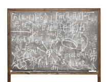 Equations on the old style chalkboard Royalty Free Stock Photos