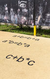 Equations on playground royalty free stock photo