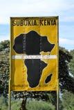 Equator crossing in Kenya Stock Images