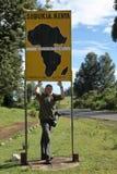 Equator crossing in Kenya Royalty Free Stock Photos