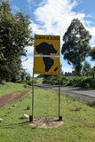 The Equator crossing in Kenya. In Africa Royalty Free Stock Image