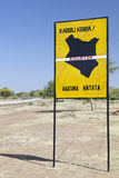 Equator crossing in Kenya Stock Photos