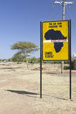 Equator crossing in Kenya. Famous signs when crossing the equator in Kenya Stock Photo