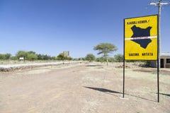 Equator crossing in Kenya Stock Image