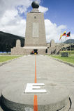 Equator Marker (East Side) - Ecuador Stock Photo