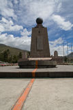 Equator monument. The earth divided in two halfs, Equator monument, Quito Royalty Free Stock Photography