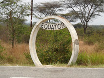 Equator Uganda Stock Photo