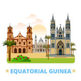 Equatorial Guinea country design template Flat car. Equatorial Guinea country design template. Flat cartoon style historic sight web vector illustration. World Royalty Free Stock Image