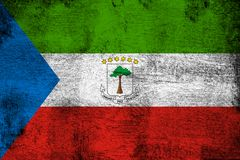 Equatorial Guinea. Grunge and dirty flag illustration. Perfect for background or texture purposes royalty free illustration