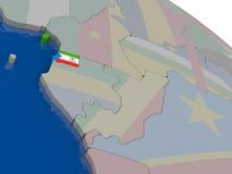 Equatorial Guinea with flag Stock Images
